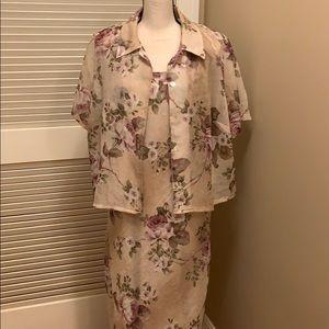 K Woman 2 Piece Dress with Shirt